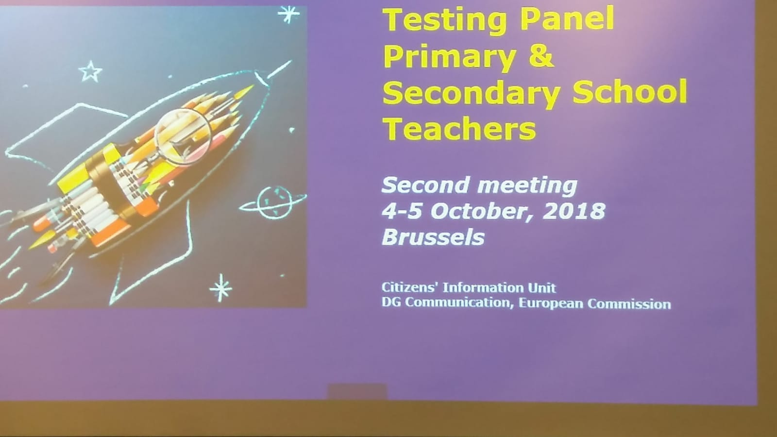 Testing panale of teachers